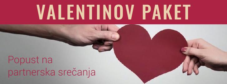 Valentinov paket - popust za partnerska srečanja